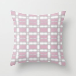 FLANNEL soft pink and white plaid pattern Throw Pillow