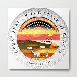 Kansas seal Metal Print