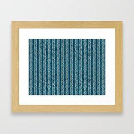 Mud cloth Teal Arrowheads Framed Art Print