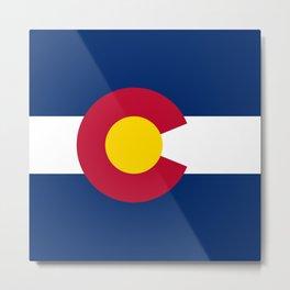 Colorado State Flag Patriotic Design Metal Print