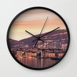 Geneva Lake Sunset Wall Clock