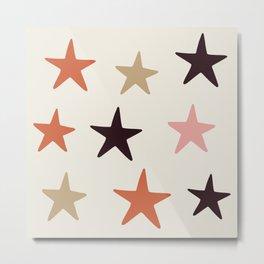 Star Pattern Color Metal Print