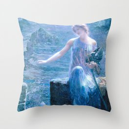The Valkyrie's Vigil - Digital Remastered Edition Throw Pillow