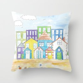 By the sea. Throw Pillow