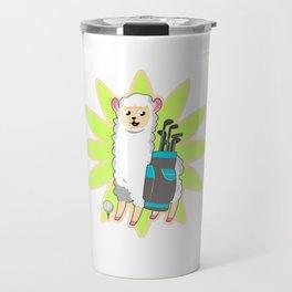 Golf Llama Travel Mug