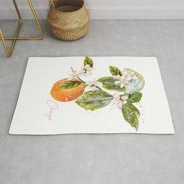 Vector illustration oranges in vintage style. Botanical Rug