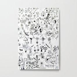 Brainstorming Metal Print