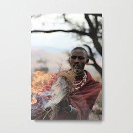 The Fire Maker Metal Print