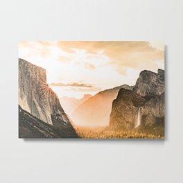 Yosemite Valley Burn - Sunrise Metal Print