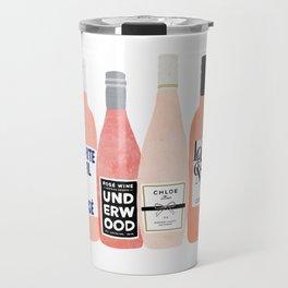 Rose Wine Bottles Travel Mug