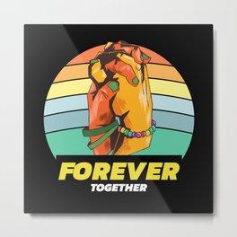 Forever Together Holding Hands Metal Print