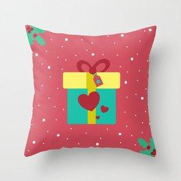 Regalo de navidad Throw Pillow