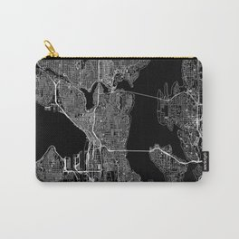 Seattle Black Map Carry-All Pouch