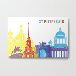 ST. Petersburg skyline pop Metal Print