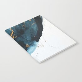 A Minimal Sapphire and Gold Abstract piece in blue white and gold by Alyssa Hamilton Art  Notebook