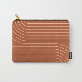 Minimal Line Curvature - Coral Red Carry-All Pouch