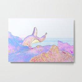 Galapagos Penguin Yoga Vision Metal Print