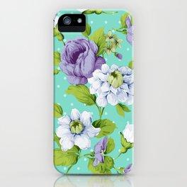 Hopeless Romantic - aqua version iPhone Case