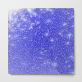 Stardust in Blue Metal Print