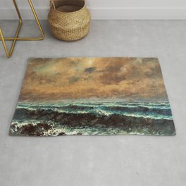 "Gustave Courbet ""Autumn Sea"" Rug"