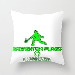 Badminton Team Ball Play Players Games Sports Gift Throw Pillow