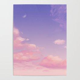 Sky Purple Aesthetic Lofi Poster