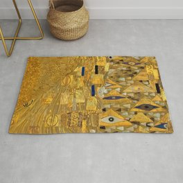 All the World is Gold symbolist portrait painting by Gustav Klimt Rug