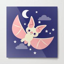 White Bat Metal Print
