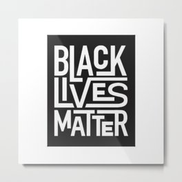 black lives matter wallpaper Metal Print