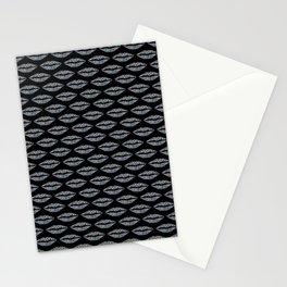 Glowing lip pattern Stationery Cards