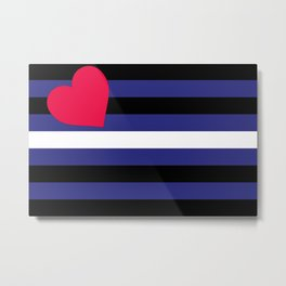 Leather, Latex and BDSM Pride Flag Metal Print