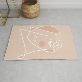 Abstraction_ONE_LINE_FACE_ART_Minimalism_001 Rug