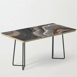 Elegant black marble with gold and copper veins Coffee Table