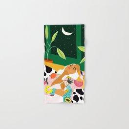 Moon Lover #illustration #feminism Hand & Bath Towel
