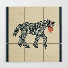 Iron Horse Wood Wall Art