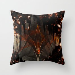 Gleeful Self Destruction Throw Pillow