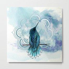 Aquarela hummingbird Metal Print