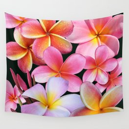 Pink Plumerias Wall Tapestry