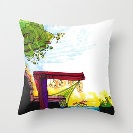 Gypsy River Architectural Illustration 89 Throw Pillow