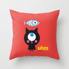 Uhm...Cat Throw Pillow