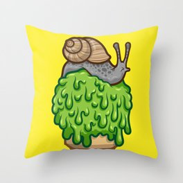 Snail Cone Throw Pillow