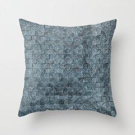 Ink Stitch: Aquamarine (blue-shade) Throw Pillow