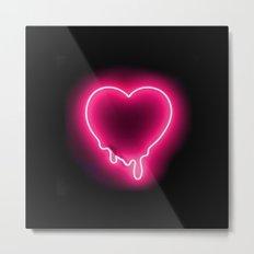 Heart (Neon) Metal Print