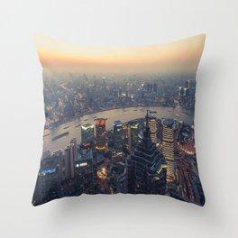 Sunset CityScape Throw Pillow