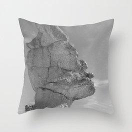 SHAPE OF A FACE B&W Throw Pillow