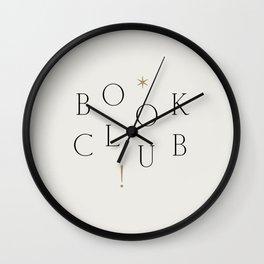 Book Club Wall Clock