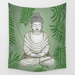 Buddha in the Garden Wall Tapestry