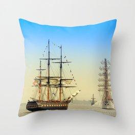 Sail Boston - Oliver Hazard Perry Throw Pillow