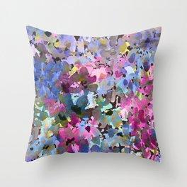 Little Blue Delphiniums Throw Pillow