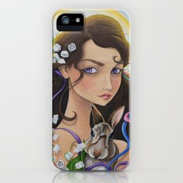 May - Lily of The Valley iPhone Case